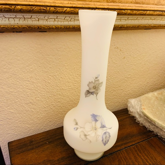 Vintage Norleans Frosted Glass Vase Hand Made